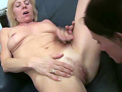 Two mature lesbians lick one another's wet pussies